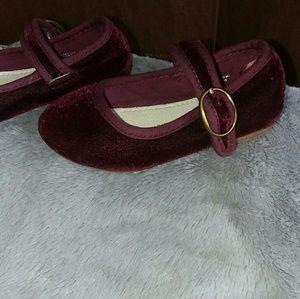 862aecf4ae25 GAP Shoes - Bordeaux Velvet Mary Jane Flats Shoes